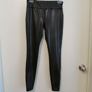 Forever 21 black faux leather skinny pants